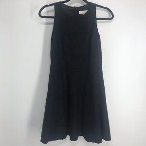loft petites black dress with detail size op